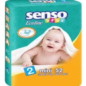 5b739daecaf2 Детские подгузники mini 3-6кг 52шт Ecoline Senso Baby Ош
