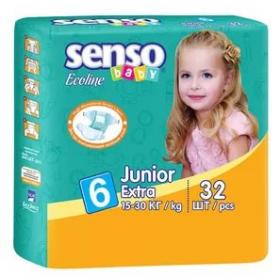 17a3e46ce449 Детские подгузники junior extra 15-30кг 64шт Senso Baby Ош